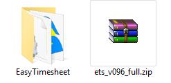 Розпаковка EasyTimesheet