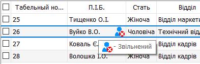 Підказка до іконок статусу в таблиці